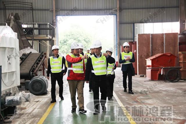 桂林鸿程磨粉机磨粉机厂家桂林鸿程喜迎福建考察团来访