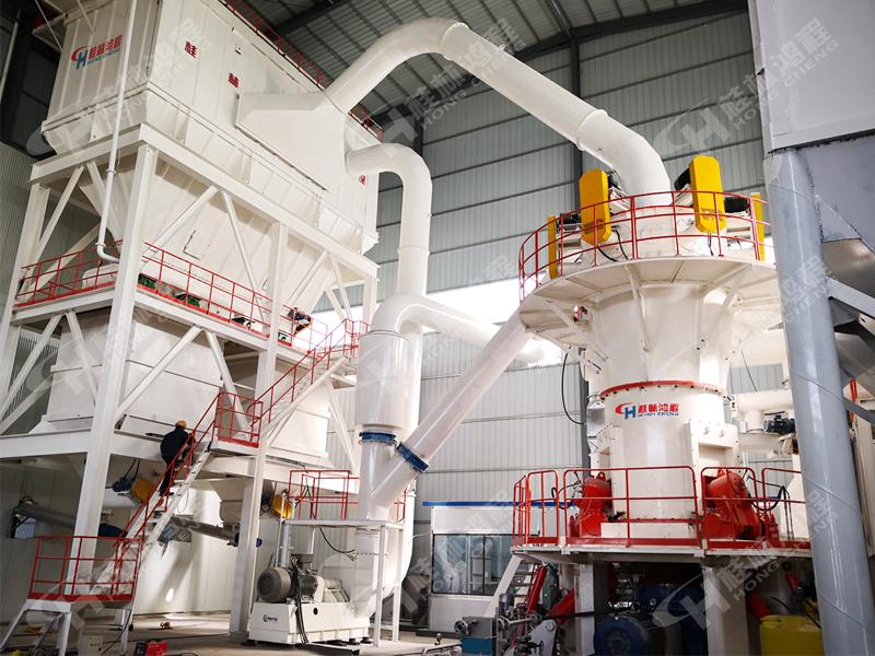 1200目钾长石超细磨粉机生产线:HLMX超细立磨