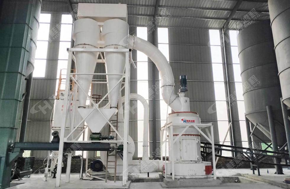 产3万吨生石灰雷蒙磨生产线江西新建项目现场