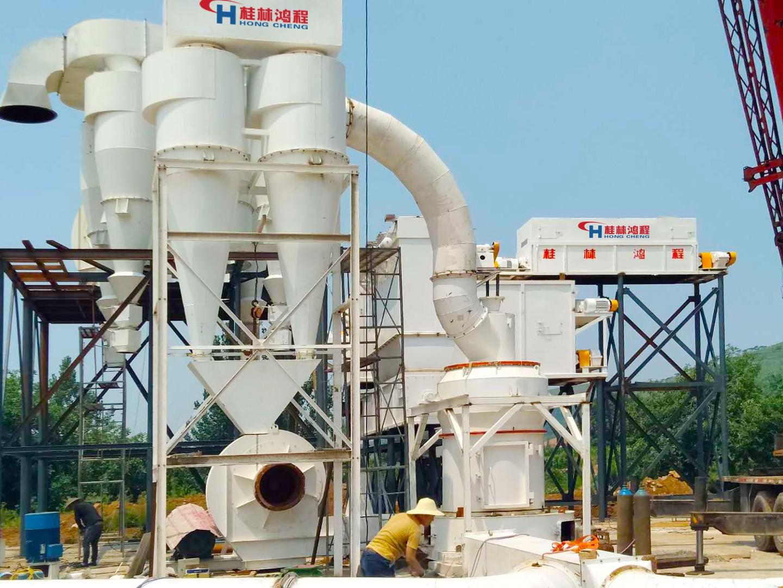 桂林鸿程年产5万吨轻质碳酸钙生产工艺设计案例现场