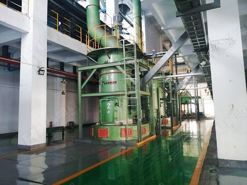 桂林鴻程石墨磨粉設備的河南林川客戶生產車間