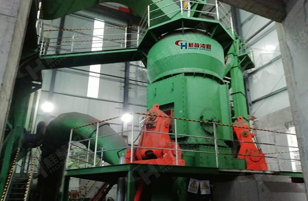 HLM2000锰矿立磨湖北客户产量达31.5吨每小时