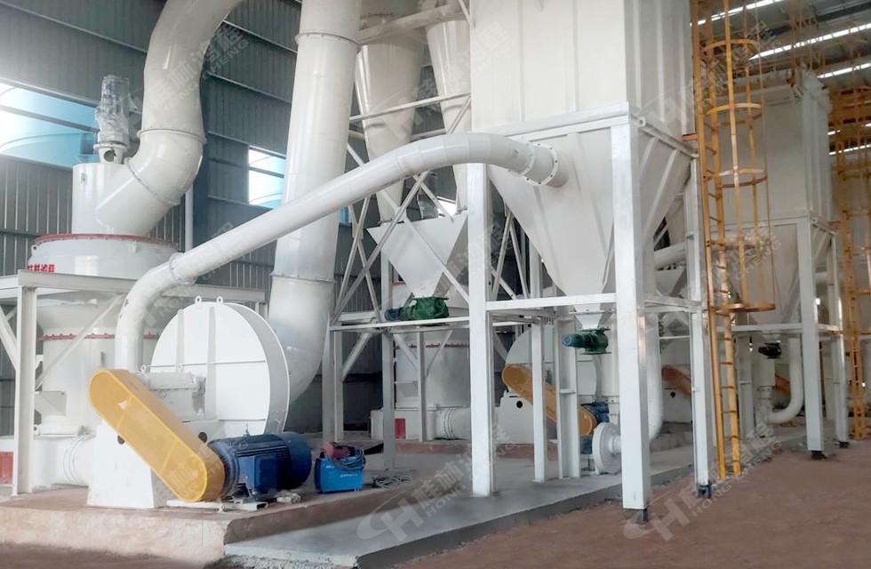 时产5吨的磨粉机hcq1500摆式磨粉机华某新材料投产