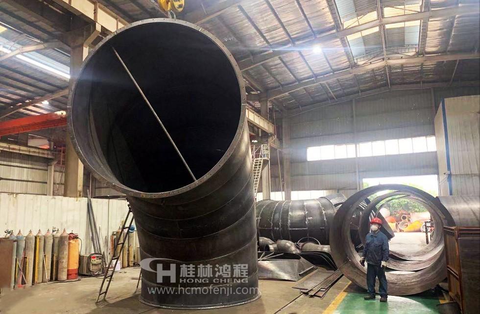 桂林鸿程2800立磨火热生产中