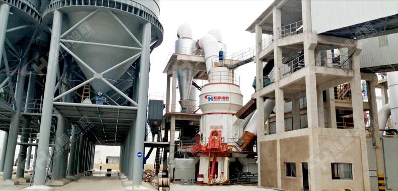 鸿程时产100吨石灰石生产线HLM2600石灰石粉立磨 浙江某钙科设备现场
