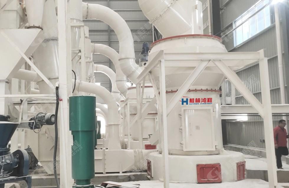 大理石雷蒙磨生产线hcq1500雷蒙磨广西贺州客户设备开机投产
