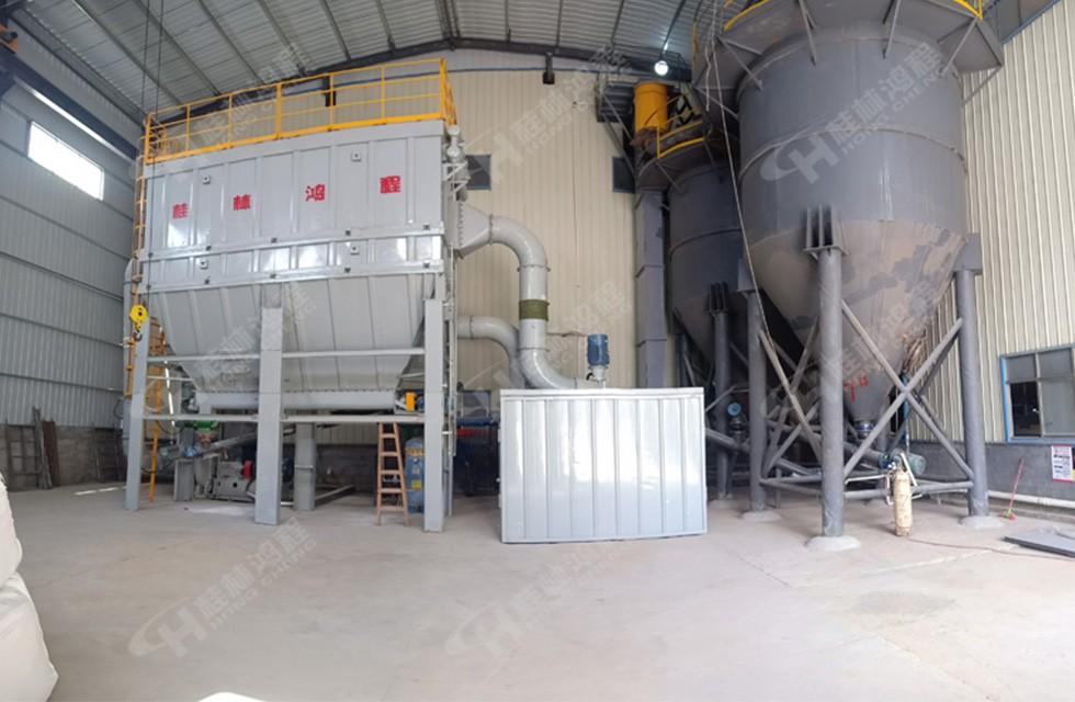 萤石粉设备超细磨粉机HCH980环辊超细磨粉机湖南某厂开机达6吨