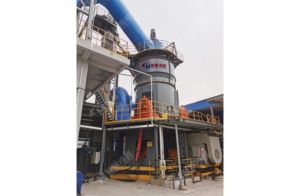 桂林鸿程大型水渣矿粉立磨HLM2800立磨接线投产