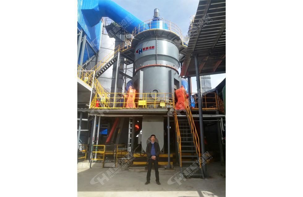 高炉水渣立磨机HLM2800河南客户接线投产