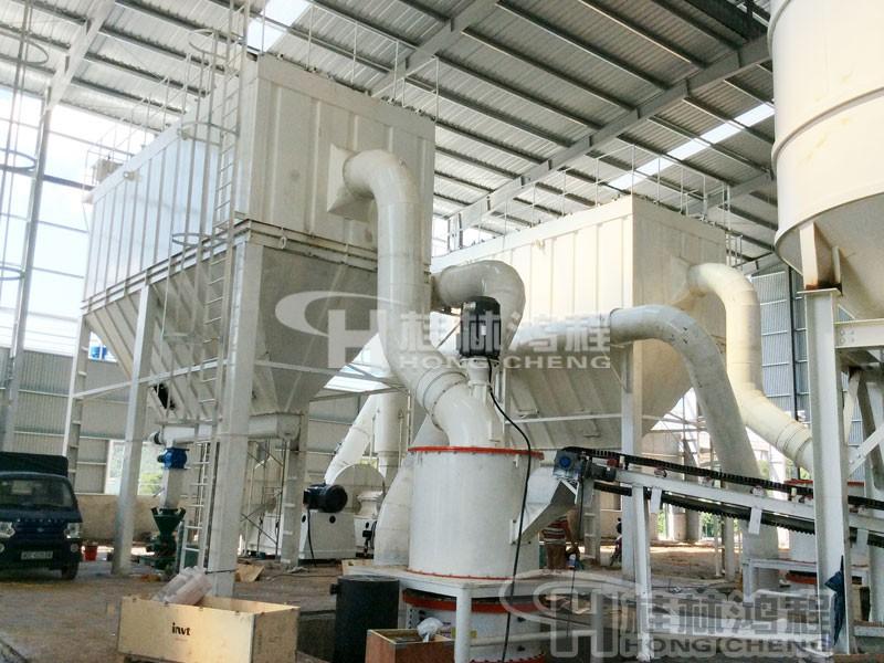 鳞片石墨磨粉机选型一:HCH1395超细环辊磨粉机
