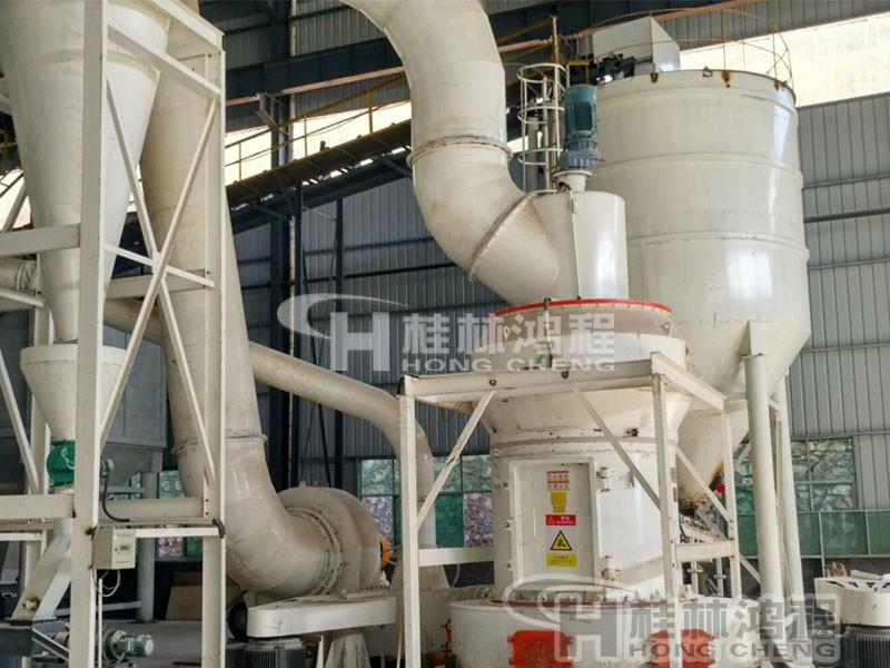 桂林鸿程325目煅烧石油焦磨粉机 雷蒙磨粉机 HC1700纵摆磨粉机