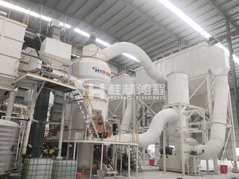 膨润土磨粉机HLMX超细立磨广西某客户现场