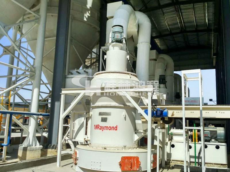 HCQ氧化钙磨粉机生产线设备非洲客户生产线现场
