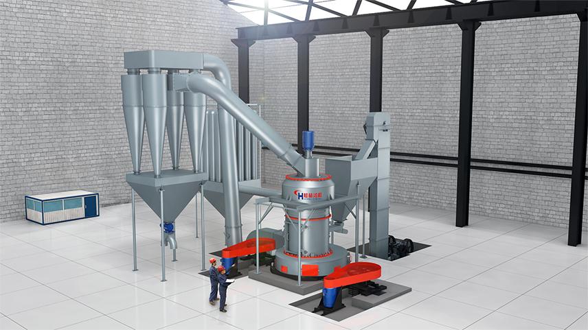 腻子粉用325目重质碳酸钙研磨机雷蒙磨生产线设备组成