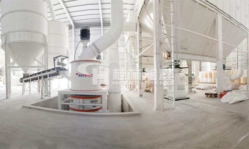 800目超细碳酸钙磨粉机HCH1395环辊磨东南亚某厂现场 产量4.5吨每小时