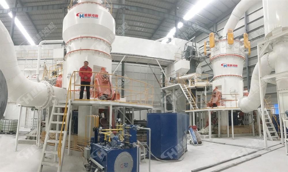 矿石磨粉机800目 超细立磨 HLMX超细立式磨粉机