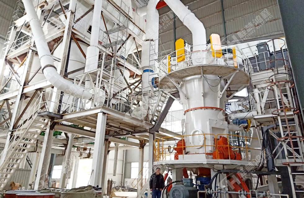 超細立磨粉機重晶石400目時產10噸磨粉設備型號