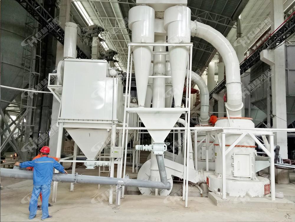 铝矿石磨机小型雷蒙粉磨机HC1000摆式磨粉机