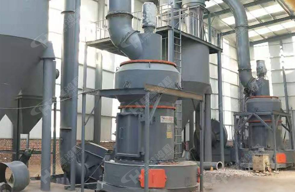 100目方解石粉新型方解石磨粉机HCQ1500改进型磨粉机客户现场