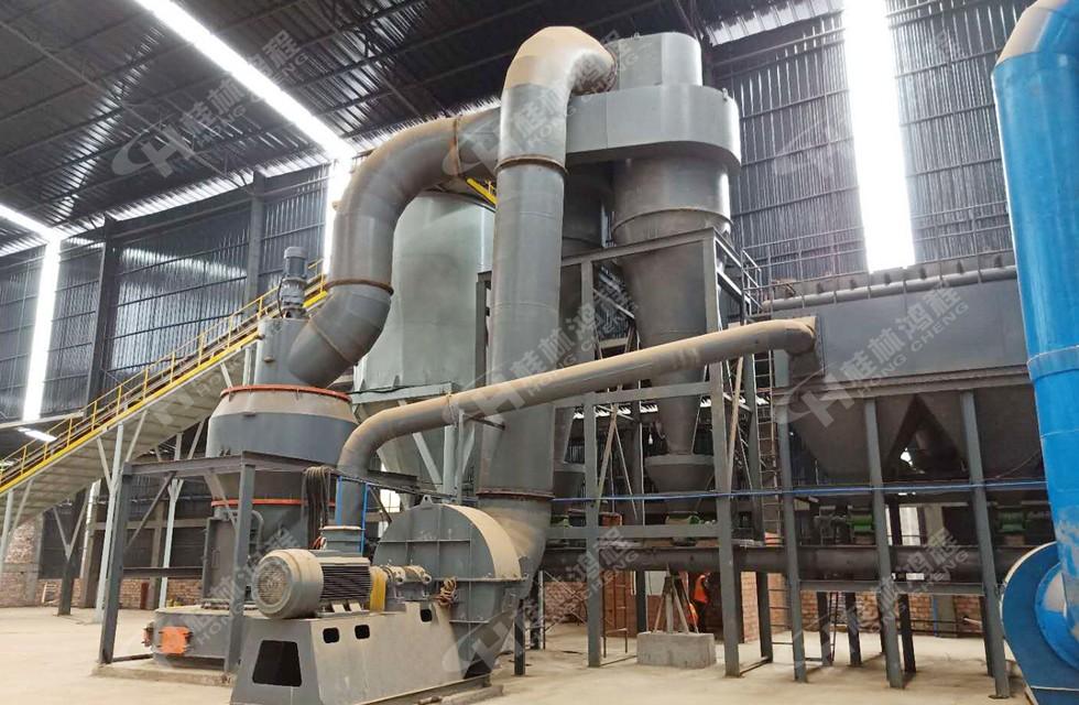 页岩混合料200目12吨HC1900摆式磨粉机四川乐山某瓷厂客户投产
