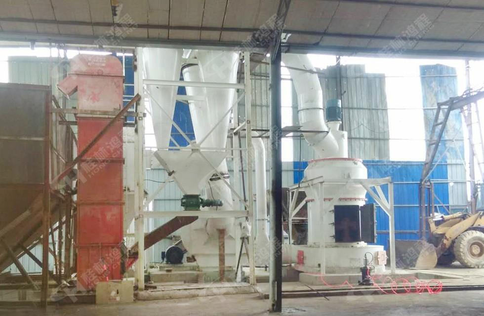 325目白云石粉生产设备HCQ新型磨粉机江西建材厂客户投产