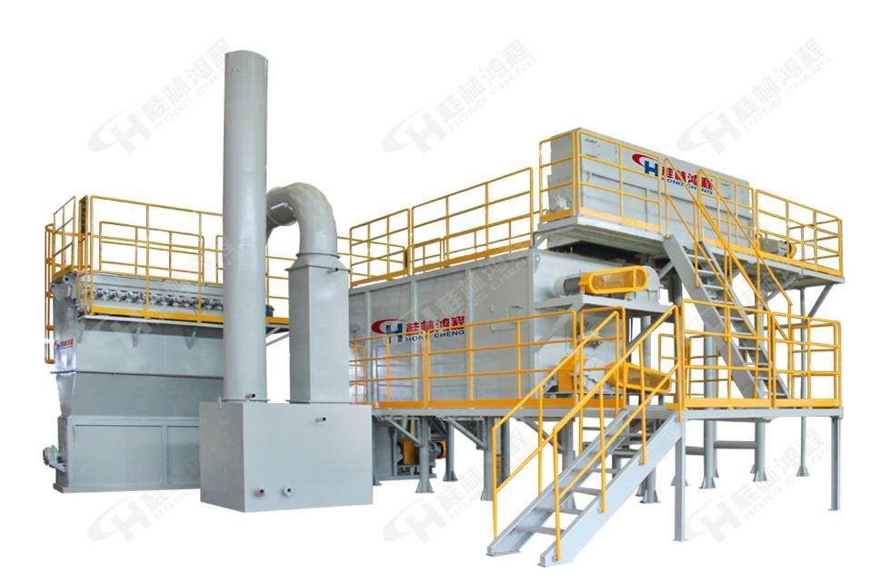 桂林鸿程湖南客户HC大型石灰深加工生产线现场 石灰石专用磨粉机